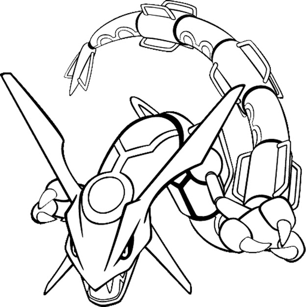 Pokemon Coloring Pages For Kids Pokemon Rayquaza Colouring Pages