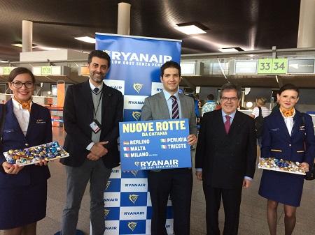 Aeroporto di Catania: 5 nuove rotte nell'orario invernale di Ryanair