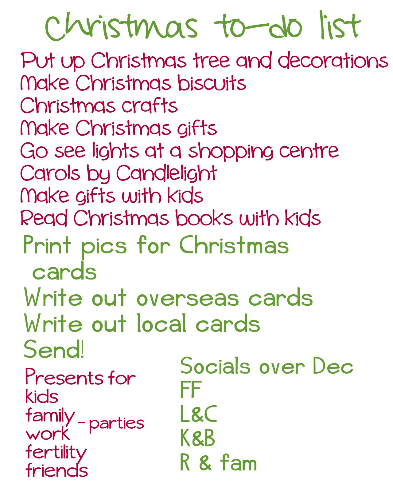 Holiday To Do List Template  Christmas List Template For Kids