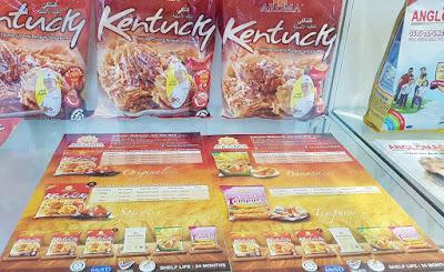 Tepung Aroma's Kentucky seasoned flour will create batter for chicken similar to Kentucky fried chicken.