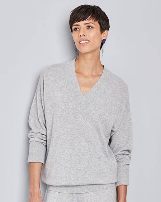 concept cashmere v neck jumper