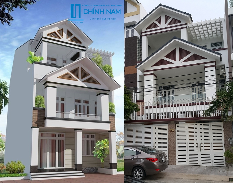 Thi công nhà phố đẹp ở phường Quyết Thắng - Biên Hòa