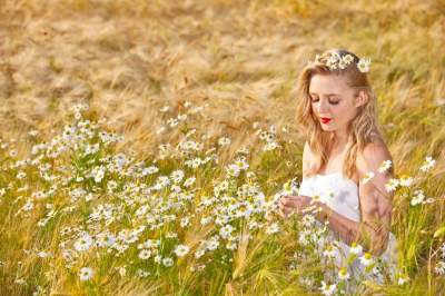 "Image ""Blond Girl On The Camomile Field"" by -Marcus- at www.freedigitalphotos.net"