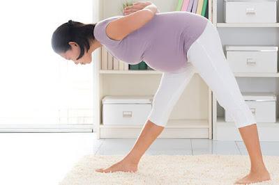 pregnancy exercises - Uttanasana