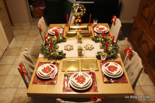 Un blog de fille d co table de no l rustique traditionnel - Decoration de noel traditionnel ...