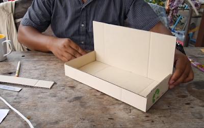 เครื่องแยกเหรียญจากกล่องกระดาษ
