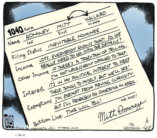 Laughing At Mitt's Expense: Some Romney Cartoons