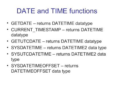 Difference between GETDATE() vs SYSDATETIME() vs GETUTCDATE() in SQL Server