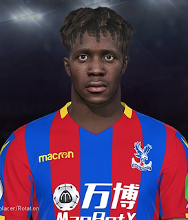 PES 2018 Faces Wilfred Zaha by Prince Hamiz