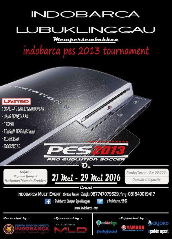 Kompetisi PES 2013 di Lubuklinggau Mei 2016