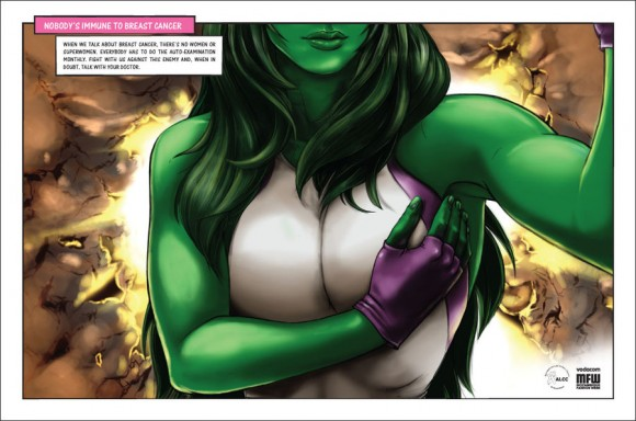 Breast Cancer Ad Campaign: She-Hulk by Maisa Chaves