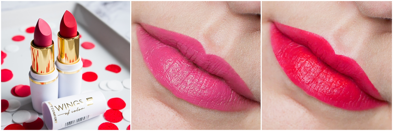 AA Wings of Colors Comfort Matte 32 Pink, 33 Red swatch