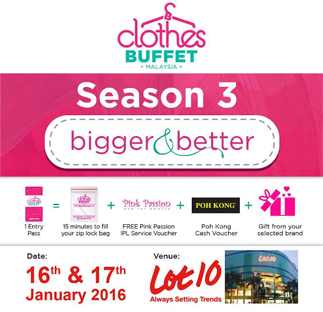 Secret Affair, Clothes Buffet Malaysia, Malaysia's Largest Clothes Buffet, Season 3, how to shop without seeing the price tag, clothes buffet 2015, clothes buffet