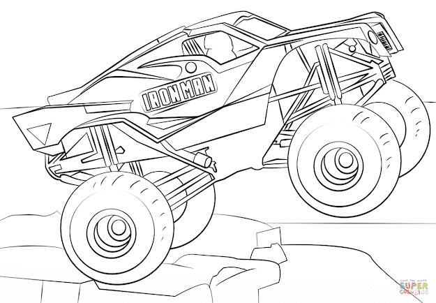 Click The Iron Man Monster Truck Coloring Pages To View Printable Version  Or Color It Online Patible With Ipad And Android Tablets