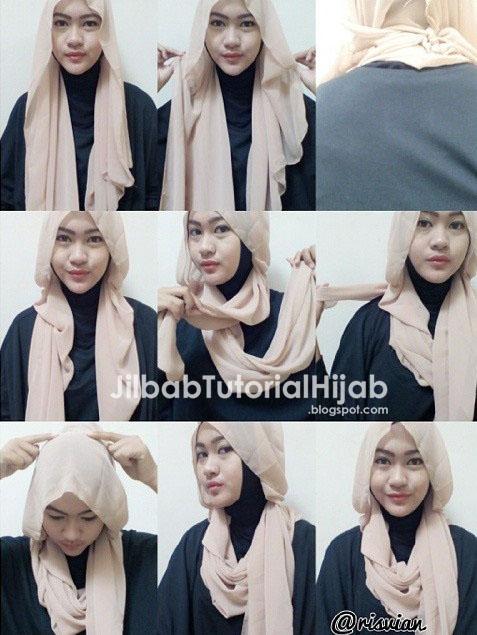 Cara Menggunakan Hijab Pashmina - style hijab tutorial 2016