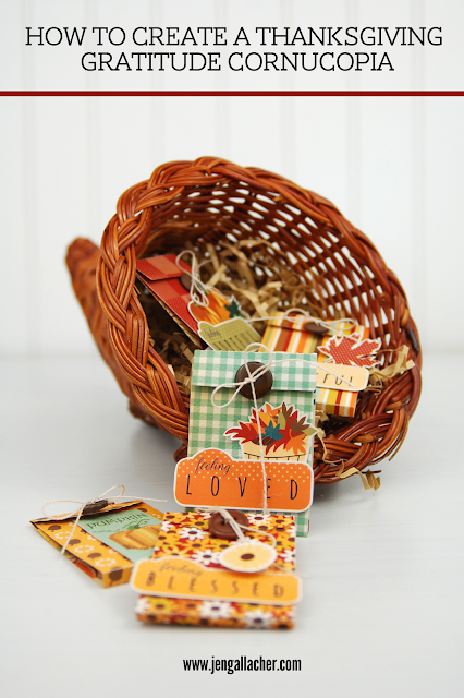 How to Create a Thanksgiving Gratitude Cornucopia. #thanksgivingcraft #papercraft #gratitudecraft