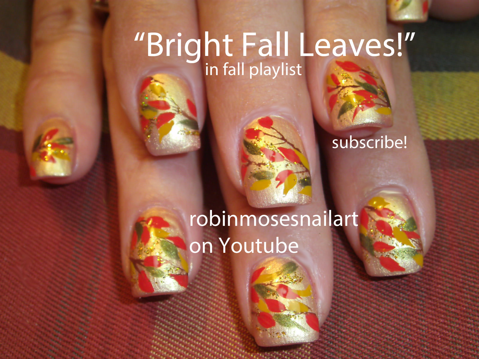 Nail Art By Robin Moses Fall Nail Art Easy Fall Nails Pretty