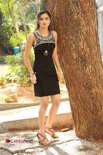 Actress Poojitha Pallavi Naidu Stills in Black Short Dress at Inkenti Nuvve Cheppu Movie Platinum Disc Function  0254.JPG