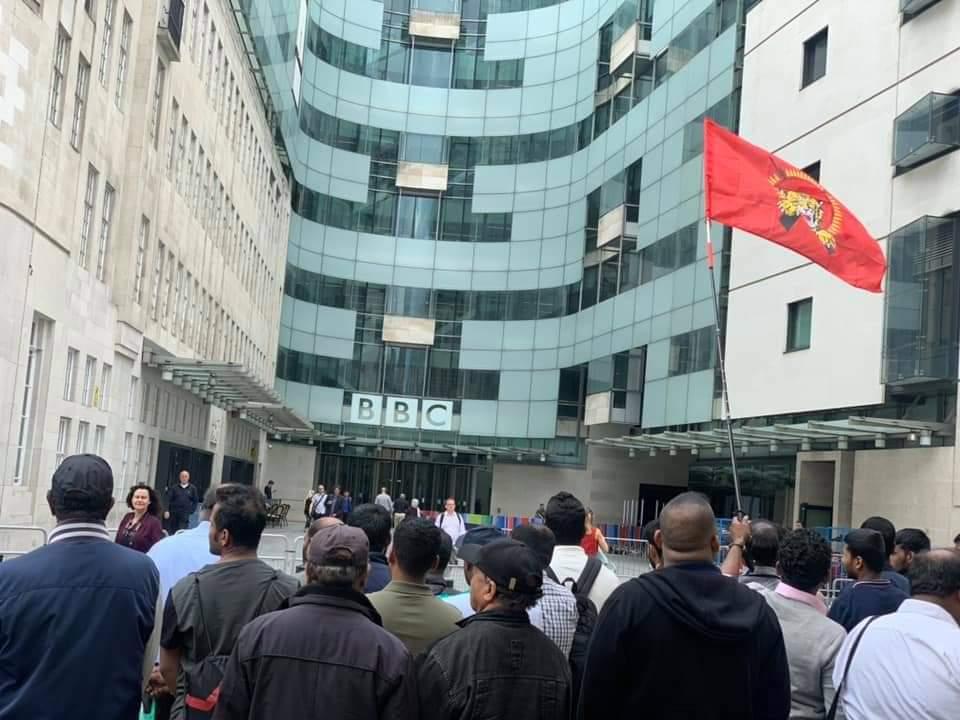 BBC -யினை கண்டித்து லண்டனில் தமிழர்கள் போராட்டம்!📷
