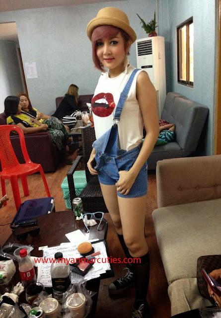 cute singer wyne su khine thein