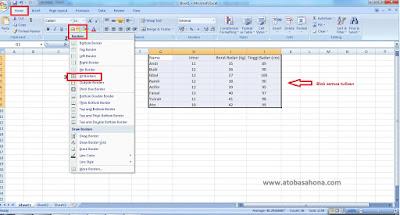 Cara Mudah Membuat Tabel di Microsoft Excel untuk Pemula