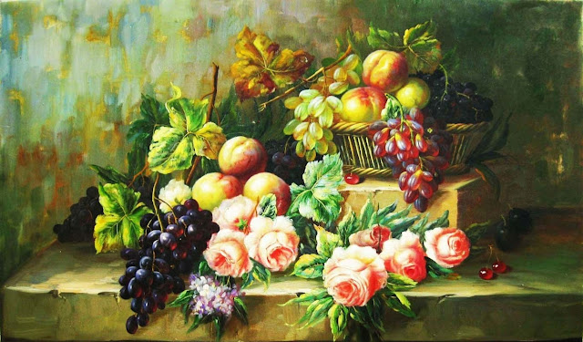 vẽ tranh sơn dầu tĩnh vật là quà tặng