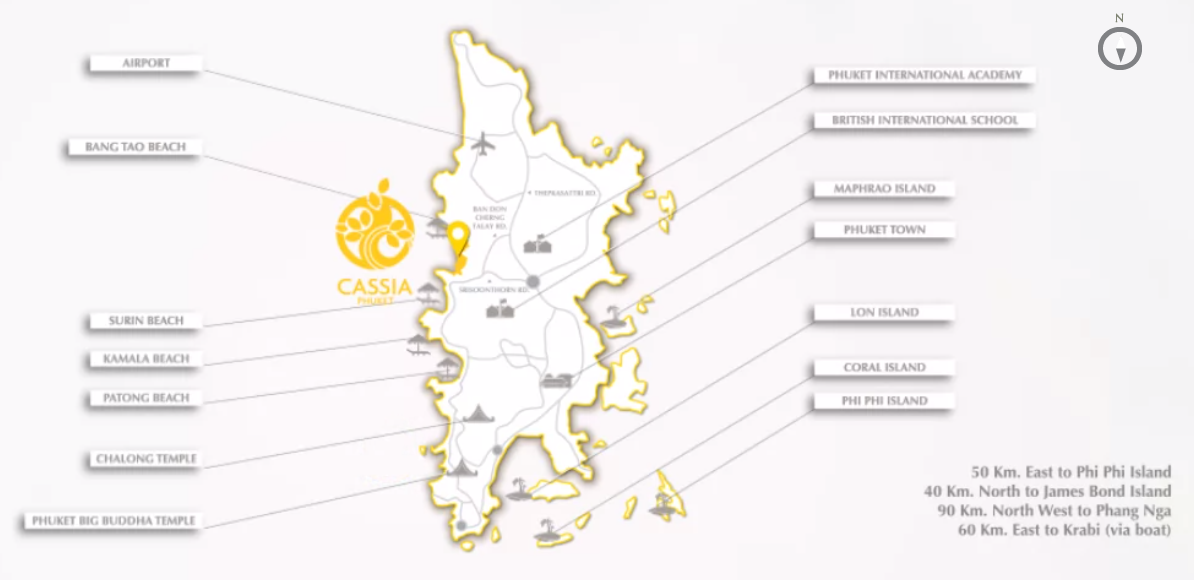 Cassia Residences at Phuket, LOCATION