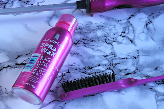 Tousled, textured ponytail with the Lee Stafford Chopstick Styler and Messed Up Spray Wax Review and How To Image