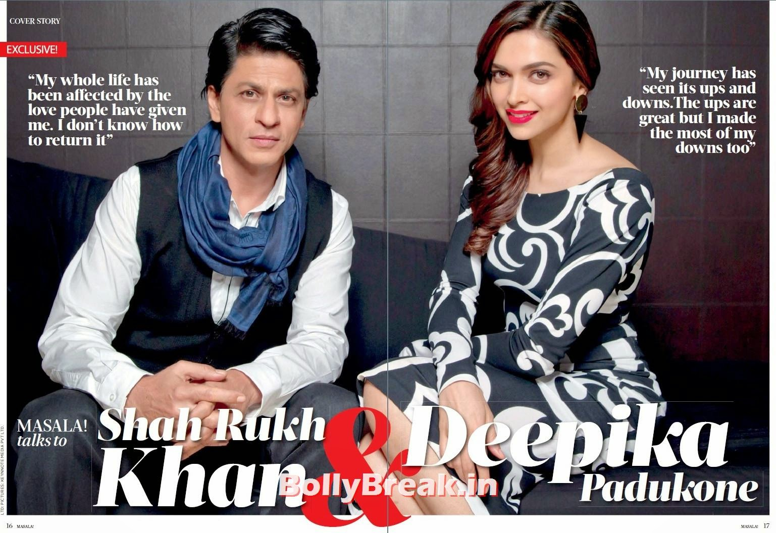 , Shah Rukh Khan Deepika Padukone Masala! Magazine Scans