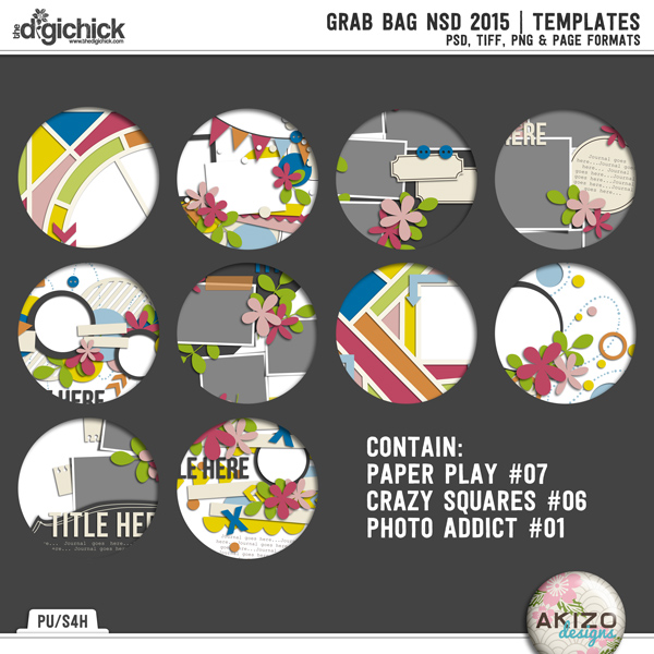Grab Bag NSD 2015  Templates by Akizo Designs