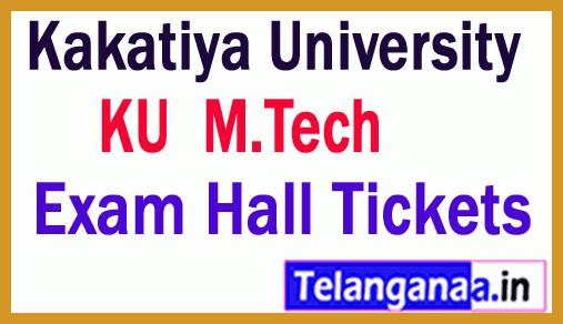 Kakatiya University M.Tech Exam Hall Tickets