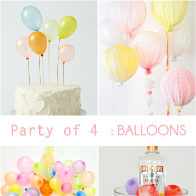 Party of  4 | Unexpected Party Ideas Using Balloons