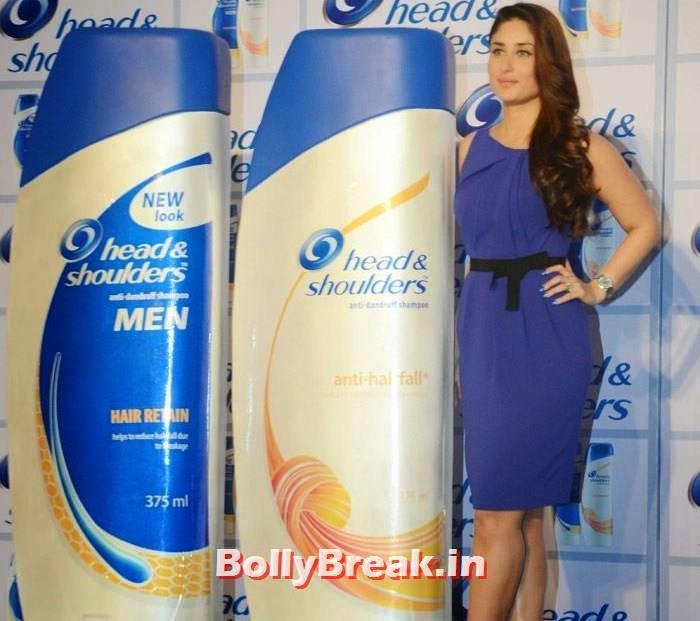 Kareena Kapoor Khan in blue - Film Actress, Kareena Kapoor Khan new images in Blue Dress at 'Head & Shoulders' Launch