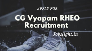 CG Vyapam RHEO Recruitment