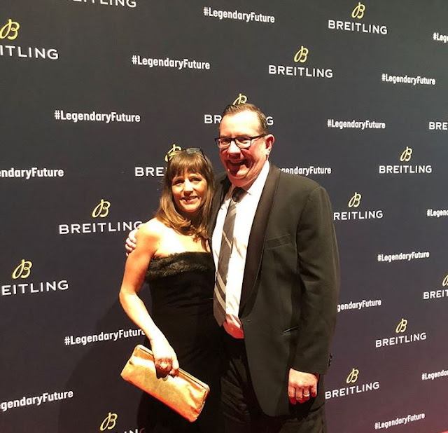 Schwanke-Kasten Jewelers' owners, Tom and Joanne Dixon at Breitling Navitimer8 release