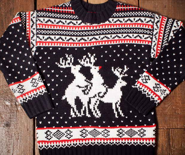 Reindeer Threesome Christmas Sweater
