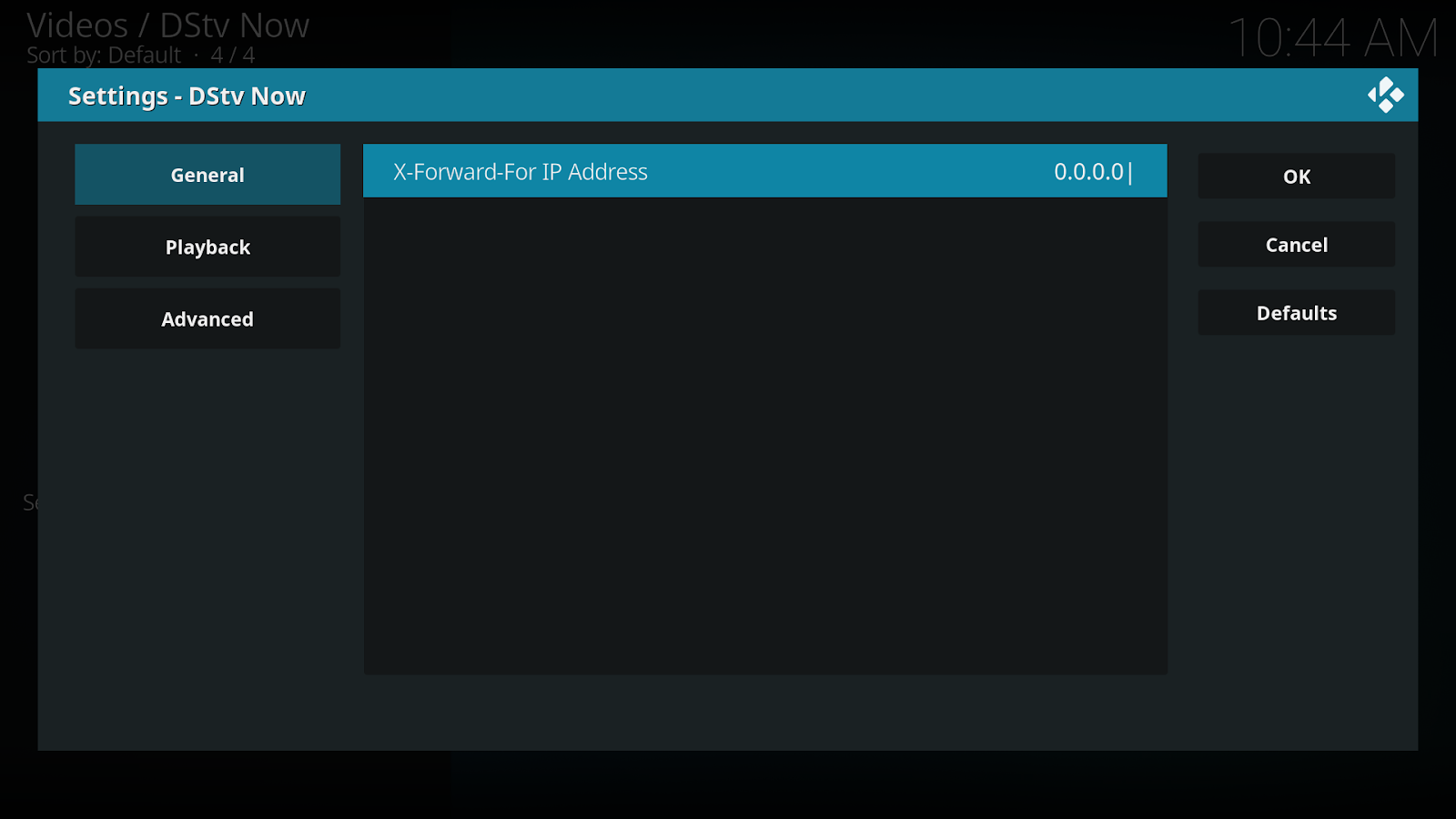 DStv Now Kodi Add-on
