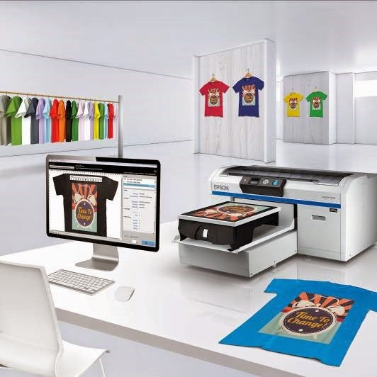 Epson SureColor F2000 direct-to-garment printer