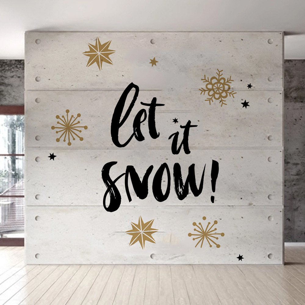 Marvelous DIY Christmas Wall Stickers Snowflake Dual Color
