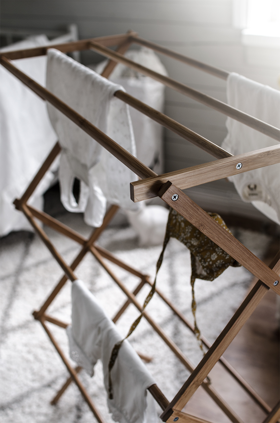 tvättställning bambu, ellos, newbie kläder, baby, barnrum