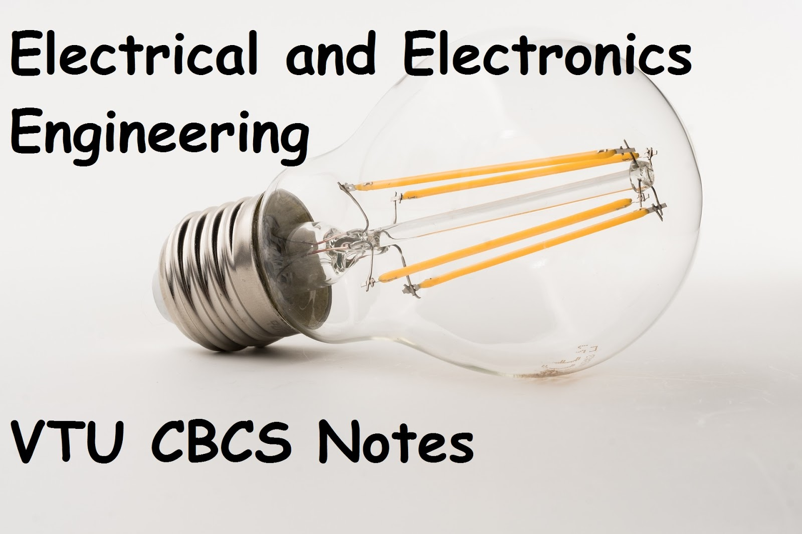 Electrical and Electronics Engineering Notes - VTUPulse