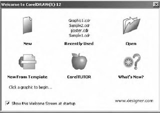 Tampilan Welcome Corel Draw 12