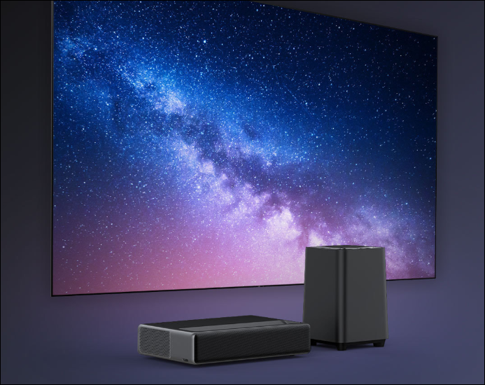 xiaomi wemax one laser projector and xiaomi wemax s1 subwoofer for sale on youpin