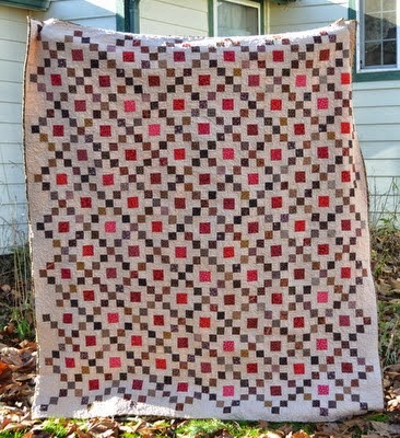 Chocolate Covered Cherries Quilt Free Pattern designed by Jo Kramer of Jo's Country Junction