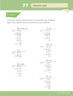 Apoyo Primaria Desafíos Matemáticos 4to. Grado Bloque IV Lección 77 ¡Mucho ojo!