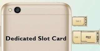 Kapasitas penyimpanan atau internal storage pada smartphone sangat bervariasi mulai dari  Smartphone Xiaomi dengan Slot Dedicated Eksternal Card