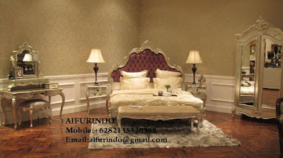 Indonesia Furniture Exporter,Classic bedroom Furniture,French Provincial bedroom Furniture Indonesia code A102