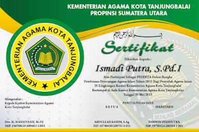 Sertifikat Pembinaan Agama Islam