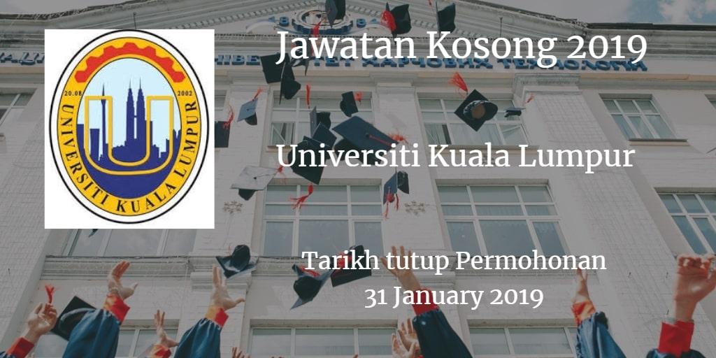 Jawatan Kosong UniKL 31 January 2019