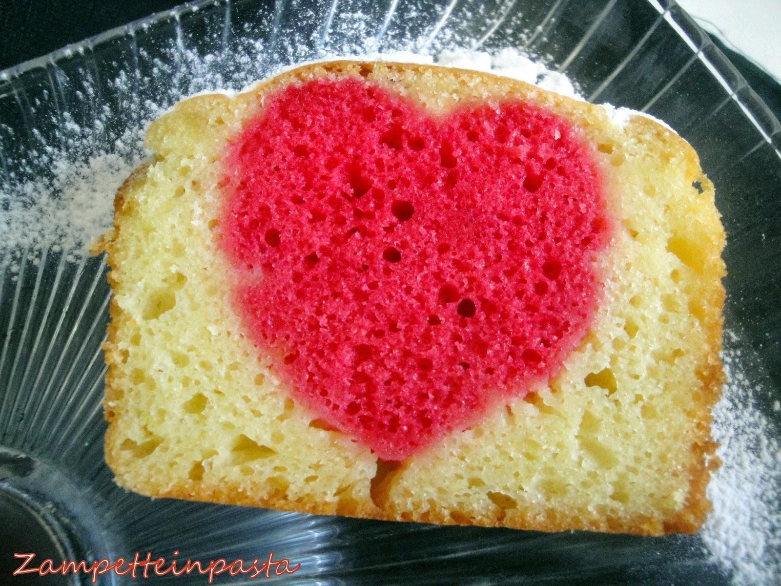 Plumcake con cuore dentro senza burro - Ricetta San Valentino